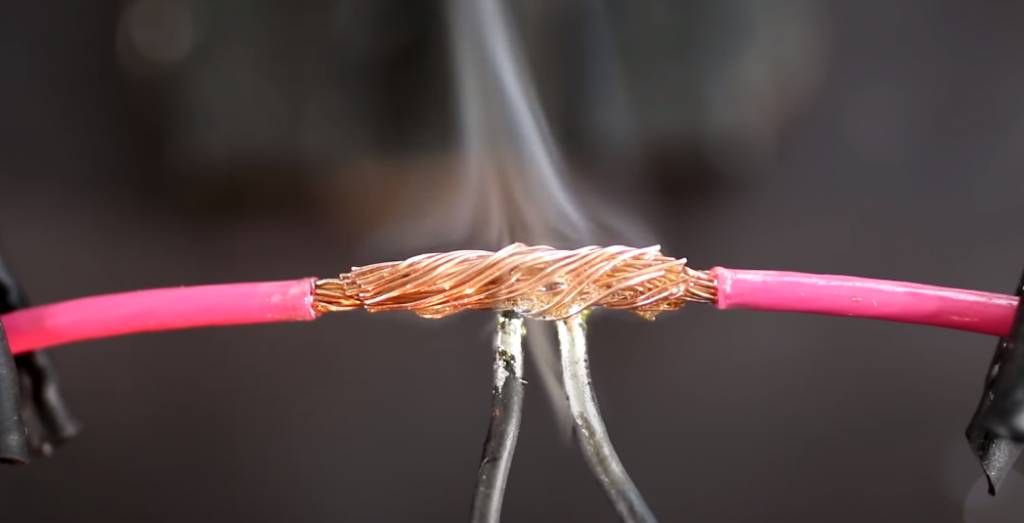 How to solder a wire to another wire