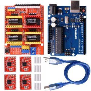 kuman CNC Shield Expansion Board V3.0 +UNO R3 Board + A4988 Stepper