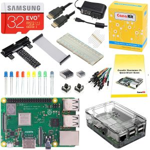 CanaKit Raspberry Pi 3 B+ (B Plus) Ultimate Starter Kit (32 GB Edition, Clear Case)