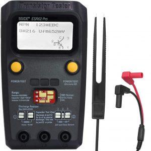 BSIDE ESR02 PRO Digital Transistor Tester SMD Components Meter Mega328 NPN/PNP