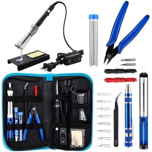 Anbes Soldering Iron Kit, Upgraded 60W Adjustable