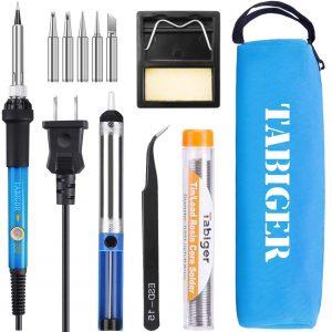 TABIGER Soldering Iron Kit Electronics 60W Adjustable