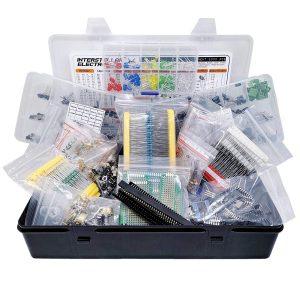 Electronic Component Assortment, Resistors, Capacitors, Inductors, Diodes, Transistors, Potentiometer, IC, LED, PCB, 2200 pcs