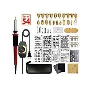 SthAbt - 54pcs Wood Burning Kit Set Adjustable Temperature Pyrography Pen